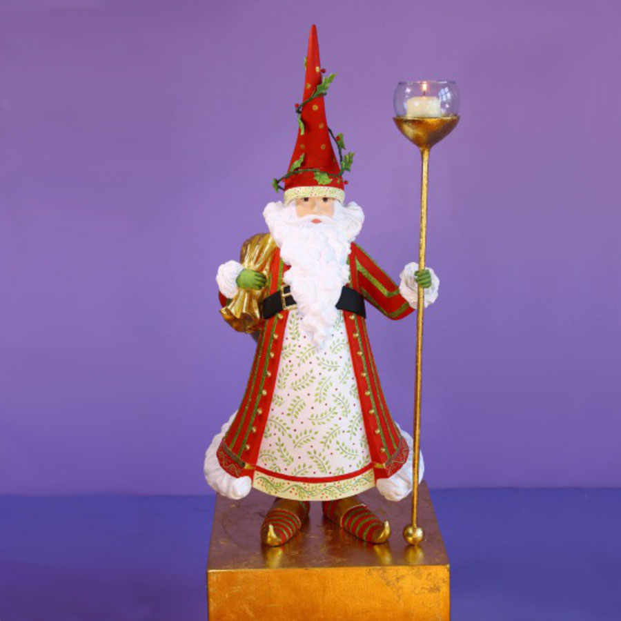 Decorationslifesize toy soldiers and nutcracker christmas decorations - Nicholas Candle Holder