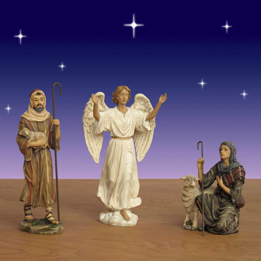 Three Kings Angel and Shepherd