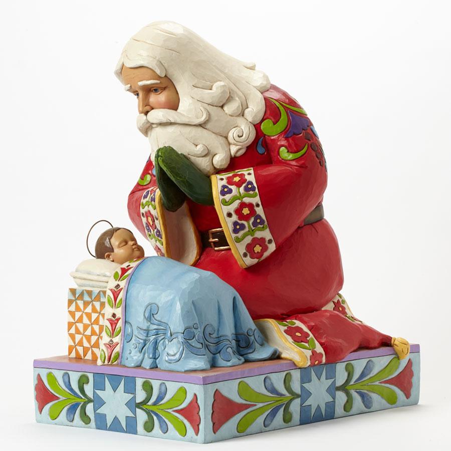 jim shore santa - Santa And Jesus