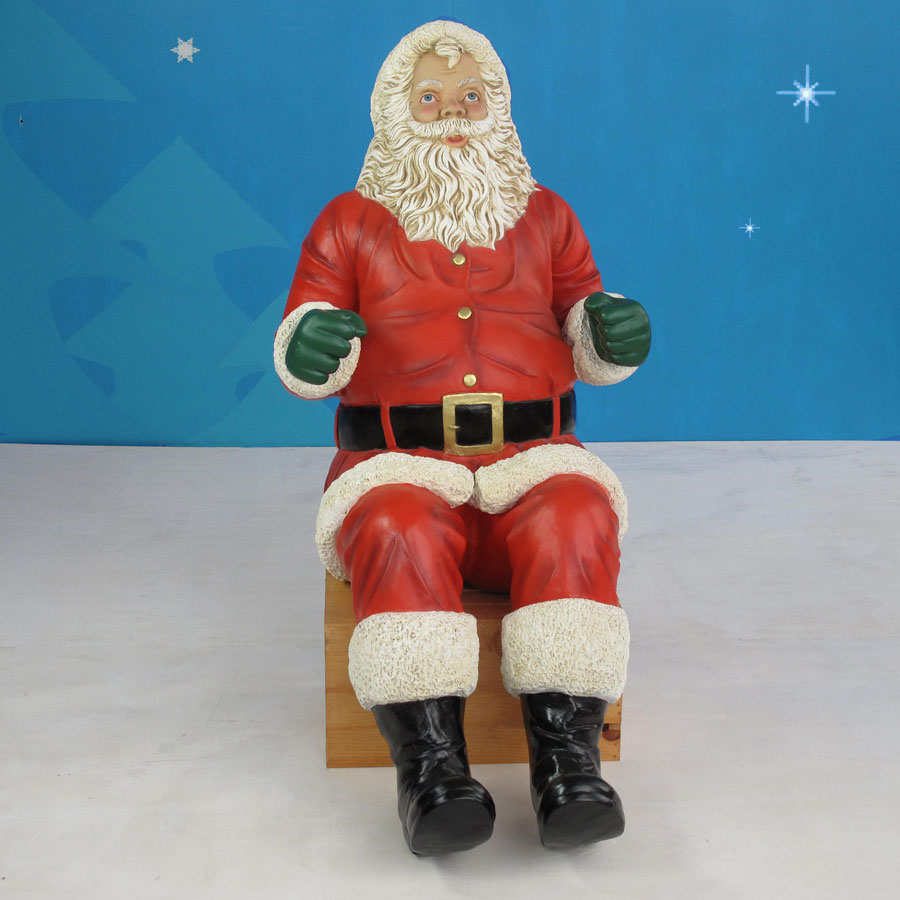 front view of sitting santa