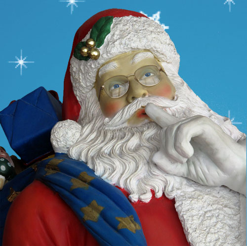 Christmas Decorations Life Size Santa: 6-Foot Yab Designs Life-Sized Outdoor Santa Decoration