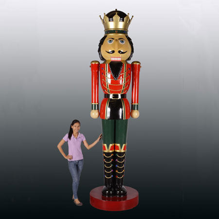 Huge Fiberglass Nutcracker