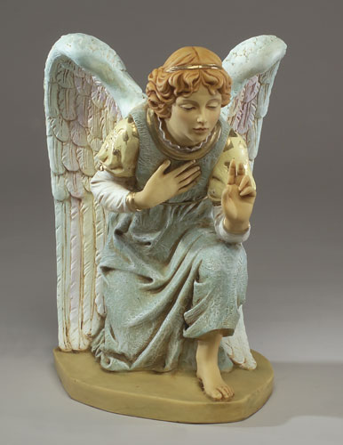 "Fontanini Kneeling Angel  27"" scale (23""H) - Masterpiece Collection"