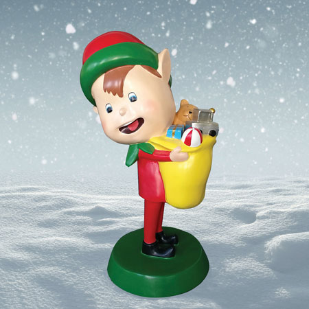 Outdoor Elf with Toy Bag