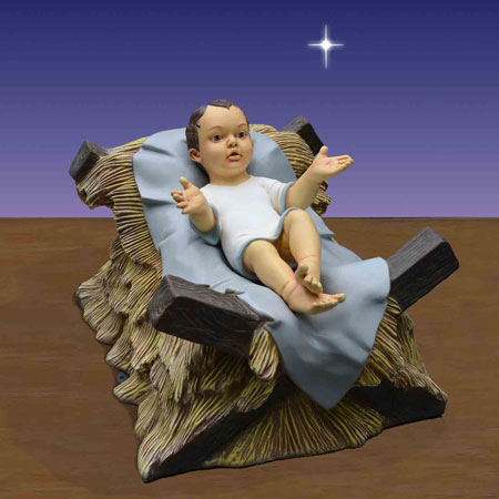 6 ft scale Baby Jesus