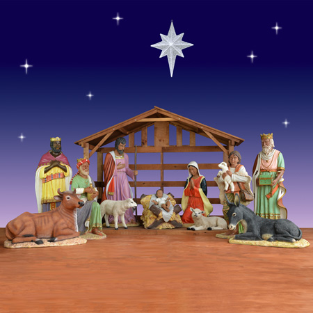 life size african american nativity set with stable 11 pc outdoor - African American Outdoor Christmas Decorations