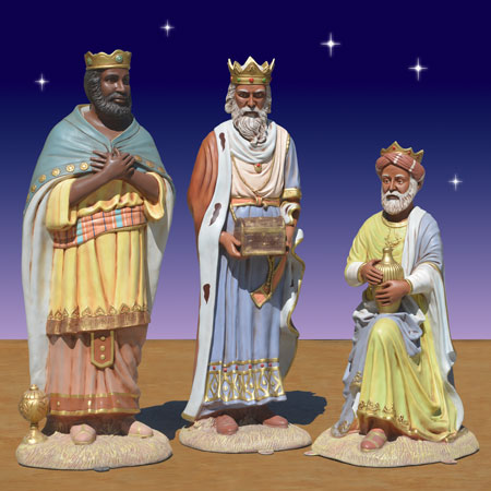 Outdoor Black Wise Men