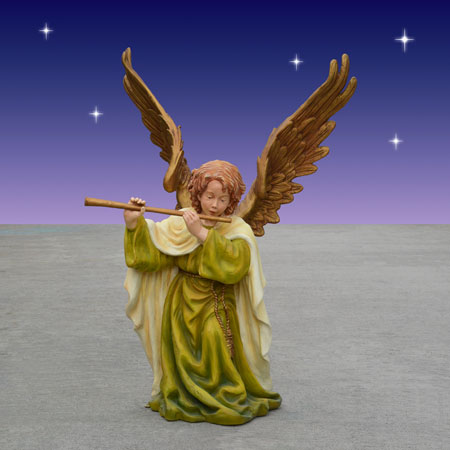 Old World Angel with Flute