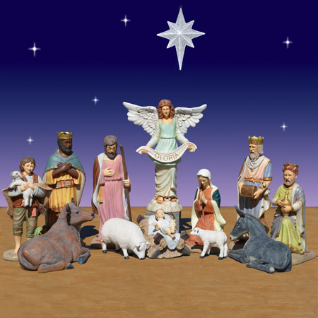 40 inch 11 piece Christmas nativity scene