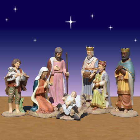 40 inch 7 piece Christmas nativity scene
