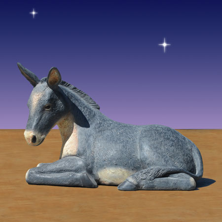 40 inch scale nativity Donkey