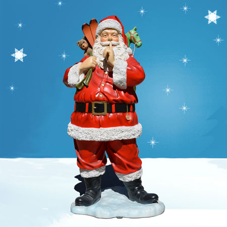 6 foot life sized outdoor santa decoration with toys for Outside christmas figures