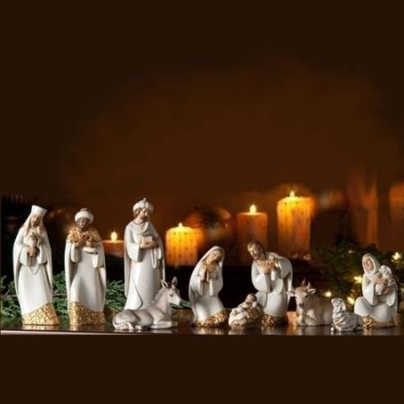 "Nativity Set 7.5"" Damask Nativity 10 pc. Josephs Studio"