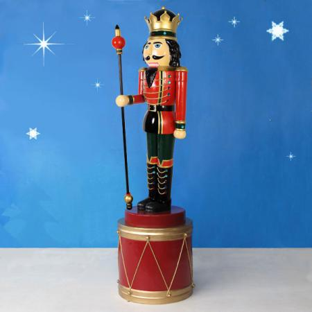 Nutcracker King w/sceptre Drum
