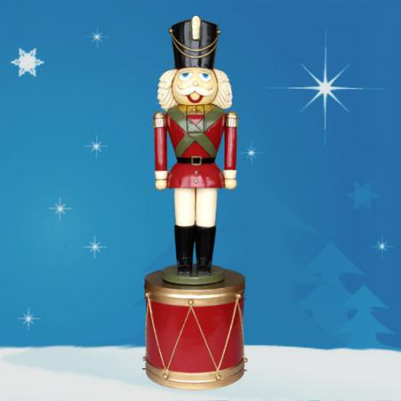 Giant Nutcracker on Drum