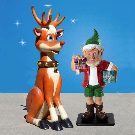 Reindeer and Elf