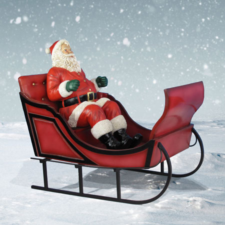 Life Size Santa with Sleigh