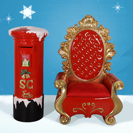 Santa Throne and Mail Box