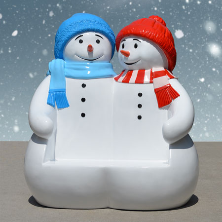Christmas Snowmen Bench