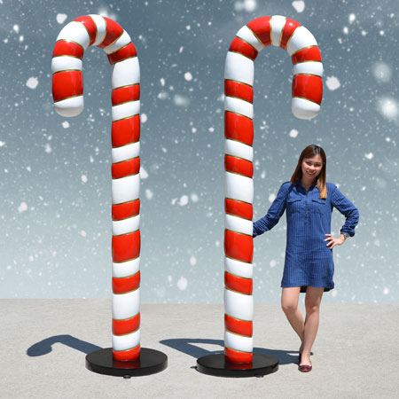 8 ft Candy Canes