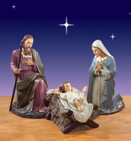 "Outdoor Holy Family 57""H - Giant 6 foot scale Nativity"