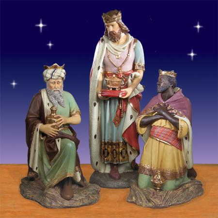 "Three Kings Life Size Plus 72"" - Giant Outdoor 6 foot scale Bay Designs Nativity"