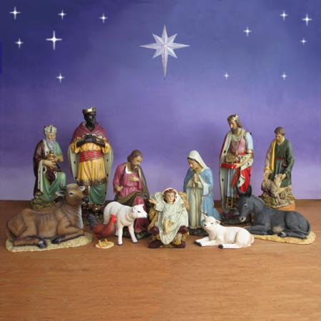 "Life Size Nativity Set - 12 Pc - 54"" scale Outdoor"