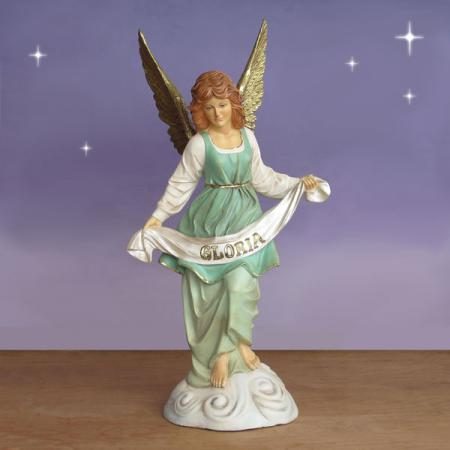 "Angel of Gloria standing on Clouds 54"" scale Outdoor"