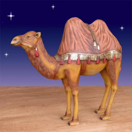 "Camel with Rug Outdoor - Fiberglass 54"" scale  (4 ft.H)"