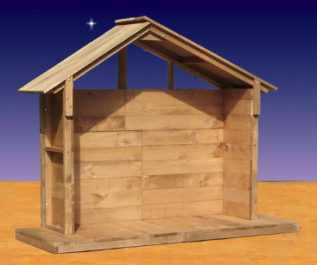 "53"" Wood Outdoor Nativity Stable"