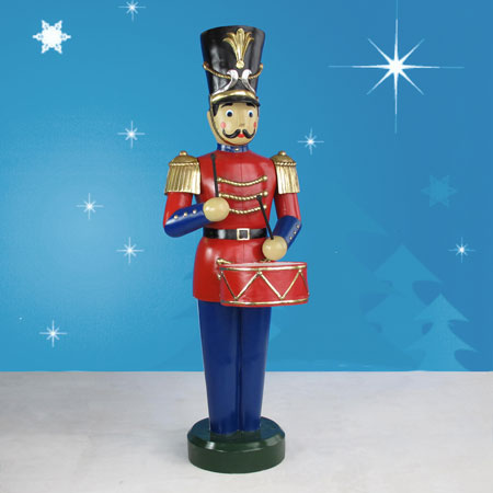 "Giant Toy Soldier w/Drum  75""H"