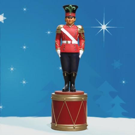 Toy Soldier on Drum stands 8 ft H