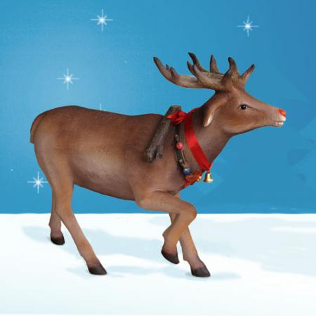 Life size reindeer and sleigh from the bay designs christmas