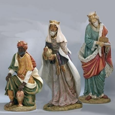 "Fontanini Life Size Three Kings 70"" Scale"