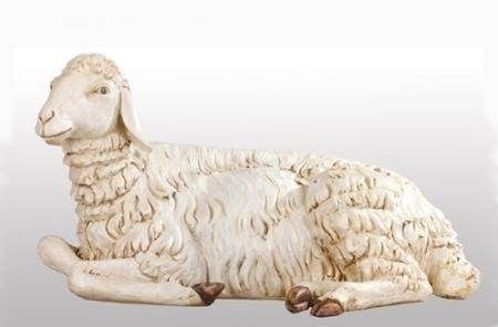 "Fontanini Seated Sheep 70"" scale (35""L)"
