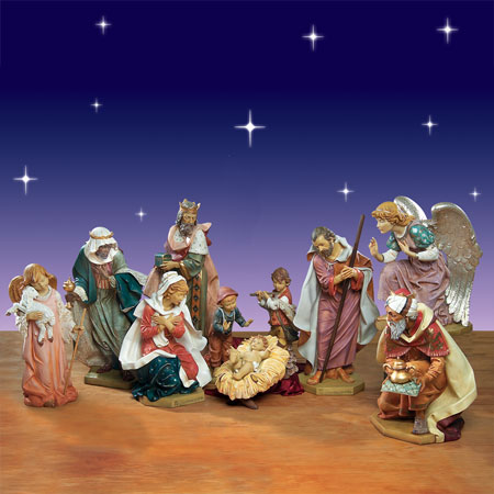 "Fontanini Nativity Set  50"" 10 Piece"