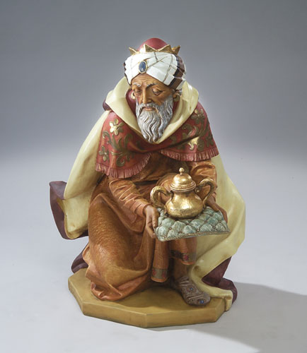 "Fontanini King Gaspar 50"" scale Masterpiece Nativity"