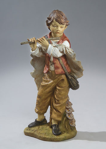 "Fontanini Michael Boy w/Flute 50"" scale Masterpiece Nativity"