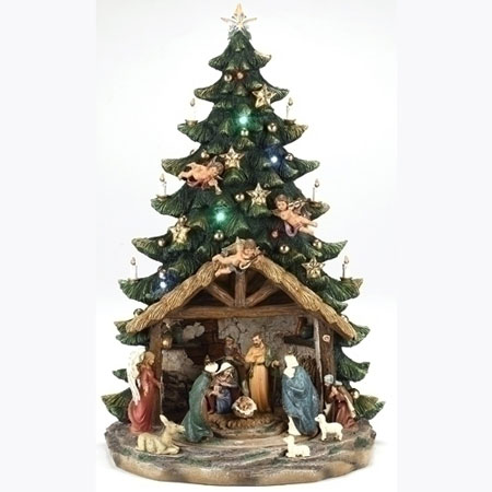 Musical Nativity Tree