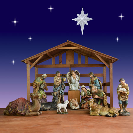 Christmas Nativity with Stable