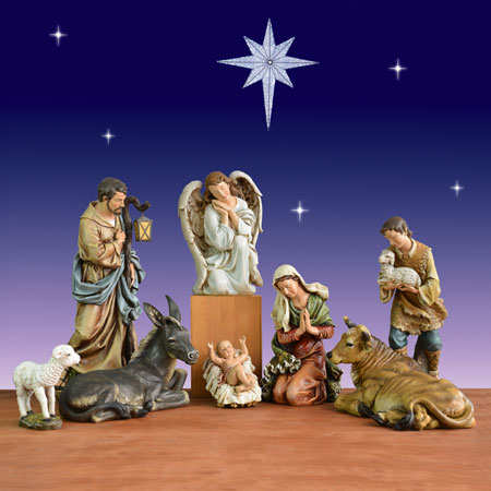 40 inch 9 piece Christmas nativity scene by Jospeh