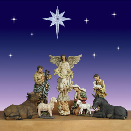 40 inch 9 piece Christmas nativity scene by Jospeh's Studio