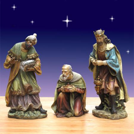 "Christmas Three Kings from Joseph's Studio 40"" scale Nativity"