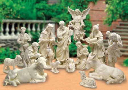 "Garden Nativity 14 Piece by Josephs Studio  30""H"