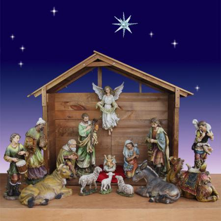 Artisan Nativity with Stable