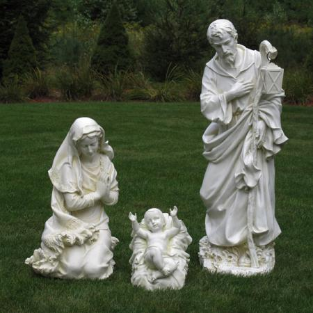 "Nativity Holy Family Ivory 40"" scale by Josephs Studio"
