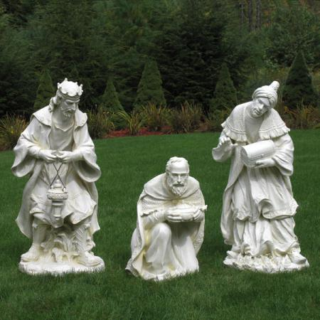 "Nativity Three Kings Ivory 40"" scale"