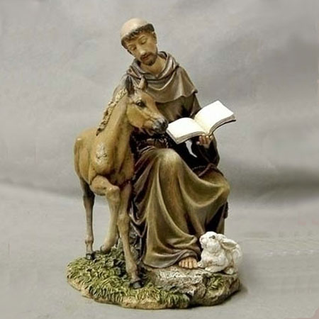 St. Francis with Foal and Rabbit