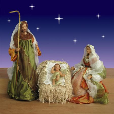 "Church Holy Family in Resin and Fabric - 42"" scale"