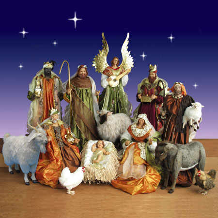 life size indoor nativity scene